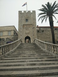 The stairs leading to the 'old town'.