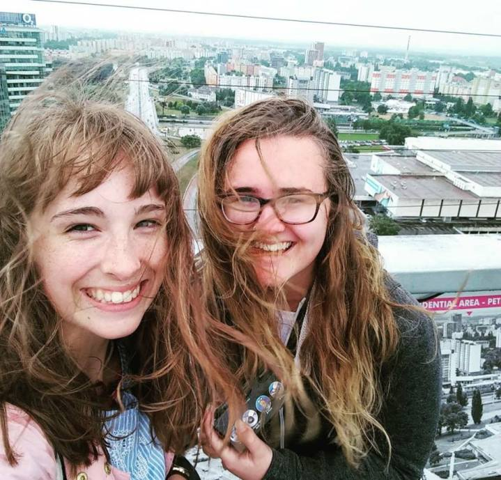 Classic windswept selfie from the UFO Observation deck