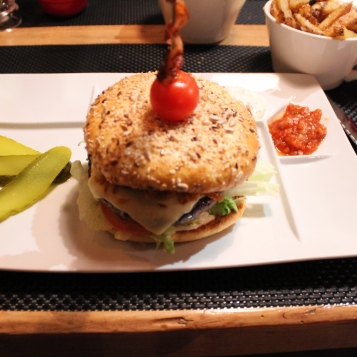 Burger from Eiger Hotel, Grindelwald