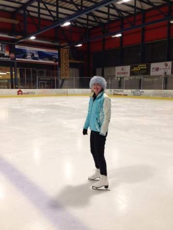 Ice skating in Grindelwald, Switzerland