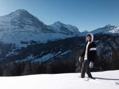 Admiring the view in Grindelwald, Switzerland