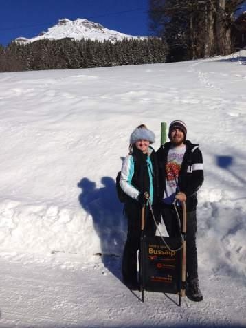 Sledging in Grindelwald, Switzerland