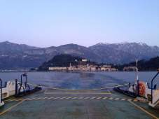 Ferry crossing at Lake Como